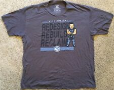 """NEW! WWE SETH ROLLINS """"NERDS"""" STYLE T-SHIRT GREY MENS SIZE 2X REDESIGN - REBUILD"""