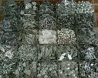 Lot de 50 Pendentifs breloque argenté 8 à 35mm mixte de très bonne qualité
