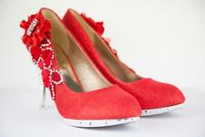 New Glitter Bridal Shoes Crystal Highheel Evening Bridesmaid Wedding Party UK