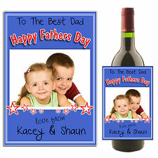 Personalised Wine Champagne Bottle Label Happy Fathers Day N26 ~ Great Gift Idea