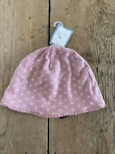Gap. Baby Hat Pink. Cotton. 18-24 Mths. Small Hearts & Dot.
