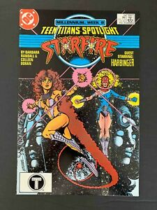 TEEN TITANS SPOTLIGHT #19 DC COMICS 1988 VF+  FEAT. STARFIRE