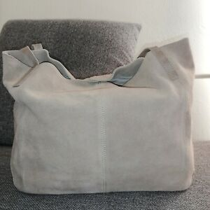 Gusti Leder Damentasche Shopper Sienna in Taupe / Grau Gustileder