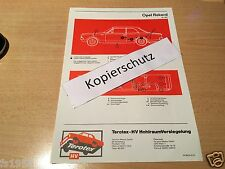 Opel Rekord C + Commodore A, Terotex Hohlraumversiegelungsplan