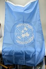 NOS Valley Forge United Nations Flag 3'x5' Perma-Nyl Box Opened