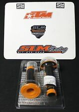 KTM OEM ORANGE AND BLACK GRIPS GRIP SET 78102021000 LEFT RIGHT CLUTCH THROTTLE