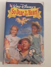 WALT DISNEY'S ~ SO DEAR TO MY HEART ~ VHS ~ CLAMSHELL ~ BURL IVES ~ 1 + SHIPPING