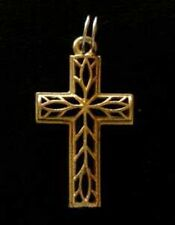 LOOK Gold Plated Celtic Cross Pendant Charm Jesus silver 925