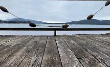 Alaskan Cedar fishing floats, Vintage, Salmon net floats, 5 on a rope