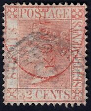 STRAITS SETTLEMENTS 1867 32c wmk.CrownCC Isc#18 used-shot perf @P619