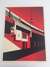 "Shepard Fairey, ""Berlin Tower"" (OBEY) Poster (Red), 2011"