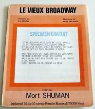 Partition vintage sheet music MORT SHUMAN : Le Vieux Broadway * 70's E.L. MORO