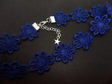 Un Azul Para Damas Niñas Bonita Margarita Flores Festival Gargantilla Collar. nuevo.