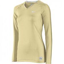Nike Pro Core Tight Shirt (Compression) L/S V-Neck 2XL 410625 Women's