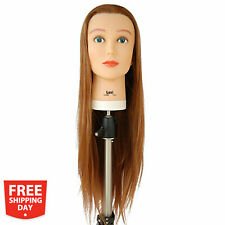 "Celebrity Lexi Cosmetology Protein Fiber Hair Cutting Manikin Mannequin 27"" Long"