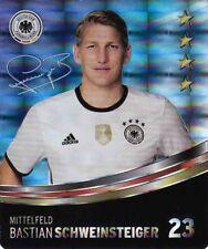 Rewe DFB Sammelkarten Fußball EM EURO 2016 Nr. 23 Bastian Schweinsteiger Glitzer