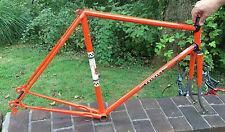 Vintage Peugeot Racing bicycle Frame 57cm Orange & Silver