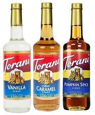 Torani Coffee Syrup Variety Pack - Vanilla, Caramel Classic, Pumpkin Spice, 3 pk