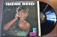 Irene Reid It's Only The Beginning For Blues Promo sticker Record lp VG++