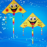 1 Satz 80 * 45 cm Lächelndes Gesicht Drachen Outdoor-Sport Drachen mit 50 m WJ