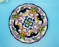 """Ansar Pue. Mexico Pottery Plate Beautiful Colors 8"""""""