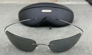 Silhouette 8562 Ruthenium/blue Grey 6076 With Case Used