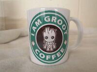 I am Groot Coffee Starbucks parody mug comic funny 11oz ceramic mug birthday