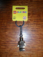 Lego Classic Limited Edition Gold Minifig Keychain -NEW- FREE SHIP