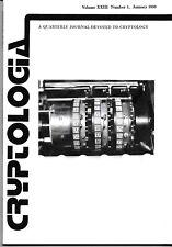 1 Cryptologia Quarterly Journal Cryptology Ciphers Codes Communication 1999