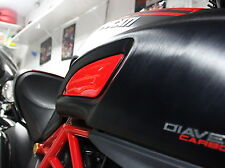Fit Ducati DIAVEL CARBON TITANIUM AMG Red Tank sides trim pad protector stickers