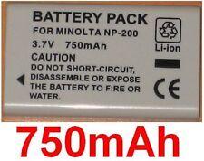 Battery 750mAh type NP-200 NP200 For Minolta DiMAGE Xi