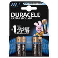 4 X Duracell puissance Ultra AAA type piles alcalines Duralock - LR6 MX1500 1.5V