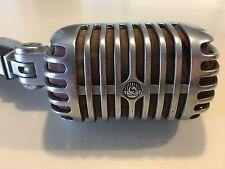 Vintage Mic 1960's Era Shure Brothers 55 S 55S Dynamic Microphone Elvis Art Deco