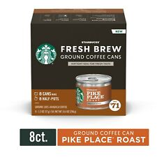 """Starbucks Fresh Brew Ground Coffee Cans """"""""32"""""""" ; Cans Total Pike Place"""
