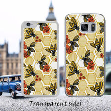 Girly Floral Honey Bee Phone Case Cover