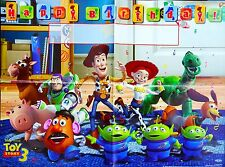 TOY STORY WOODY BUZZ JESSIE HAPPY BIRTHDAY PARTY POSTER BANNER - PARTY SUPPLIES
