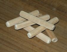 Dowels - Fluted - Tasmanian Oak - 10 x 62mm - 200 pcs - C0424