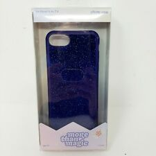 I Phone Blue Velvet Sparkle Hard Shell Case More Than Magic 6, 6s, 7, 8 New