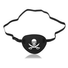 Adult Pirate Black EYEPATCH Eye Patch Skull Crossbones Pirates Fancy Dress