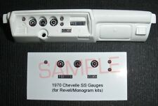 1970 CHEVELLE SS GAUGE FACES for 1/24 scale REVELL - MONOGRAM KITS