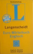 Langenscheidt Euro Wörterbuch Englisch Bücher Fremdsprache Lehrbuch Ungelesen