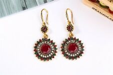 Vintage Bohemian Boho Style Multicolor Round Ethnic Women  Earrings