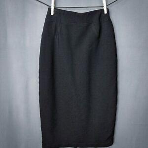 Everleigh Womens Skirt XSP XS Petite Black Pencil Straight Below Knee Stretch