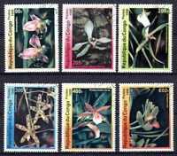 Flora - Orquideas Congo (31) serie completo de 6 sellos matasellados
