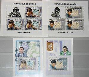 GUINEA 2002 Klb 3987-88 Block 759-60 Schachspieler Schach Chess Player Game MNH