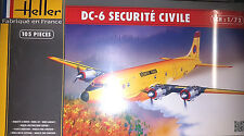 Douglas DC-6 Securite Civile - Heller Kit 1:72 80330 Nuovo