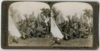 Underwood Stereoview Photo Iroquois Indians