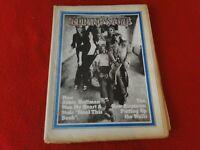Vintage Rock N Roll Newspaper Pulp Magazine Rolling Stone Sept. 71 Hoffman   G34