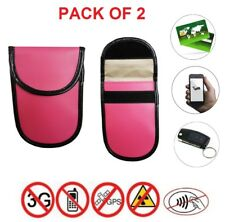 2x Car Key Signal Blocker Pouch Antitheft Faraday Bag RFID Blocking Protection