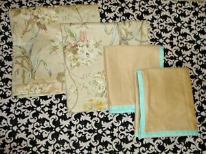 MARTHA STEWART HANGING GARDENS YELLOW BELLS FLORAL (4) EURO & KING PILLOW SHAMS